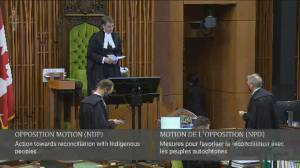 NDP motion calling on government to take action on reconciliation passes (00:29)