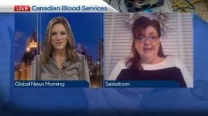 Canadian Blood Services in need of donations in Saskatoon (03:05)
