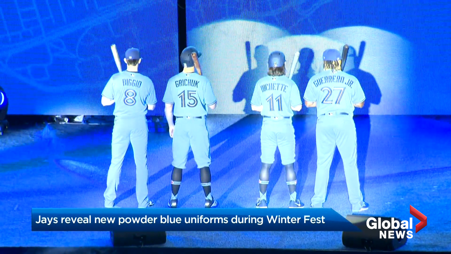 Jays unveil 'throwback' uniforms in powder blue during 3rd annual Winter Fest