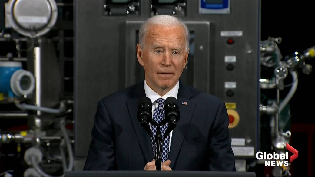 Click to play video ''You're making a difference,' says Biden of his mask mandate as he implores citizens to follow their 'patriotic duty''