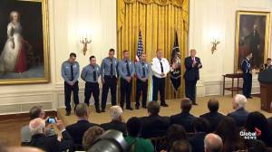 Trump presents Medal  of Valor to officers who confronted Dayton shooter