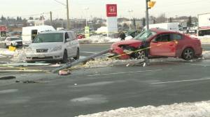 Three people injured after serious crash in Whitby