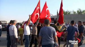 Border town residents celebrate as Turkish-backed forces capture Syria's Tel Abyad