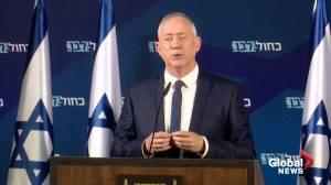 Israel's Gantz, main Netanyahu rival, says to meet Trump on peace plan