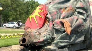 Federal Conservatives urge Manitoba Premier to restore statues of Queen Elizabeth, Queen Victoria (01:09)