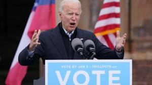 US election: Joe Biden campaigns ahead of crucial senate runoffs (01:59)