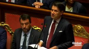 Italian Prime Minister Guiseppe Conte resigns