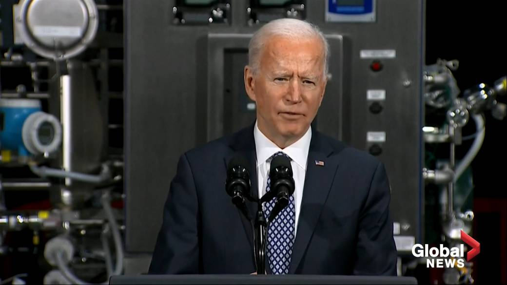 Click to play video ''Vaccines are safe, please take the vaccine' says Biden while providing update on rollout'