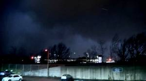 Nashville reporter captures tornado sweeping by news station