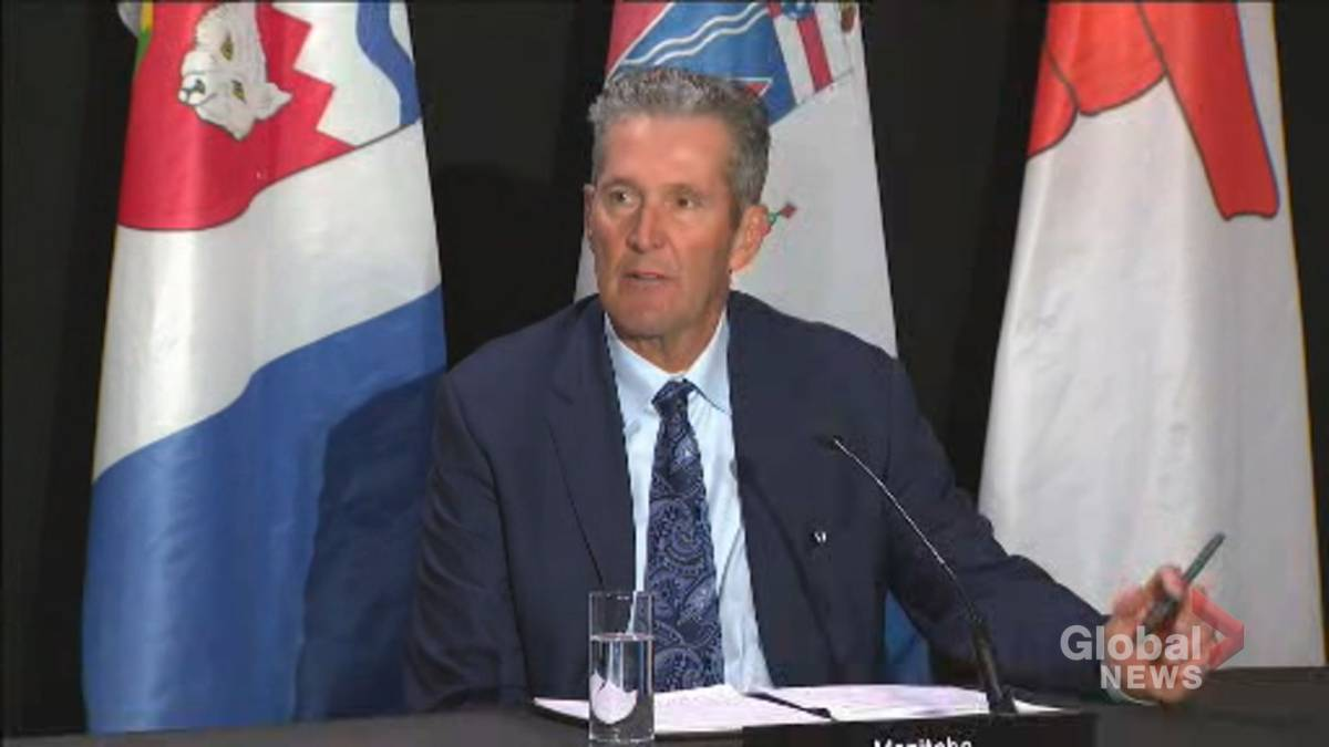 Click to play video 'Coronavirus: Manitoba Premier says throne speech must focus on the health of Canadians'