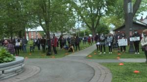 Hundreds show solidarity at Black Lives Matter vigil in Kingston