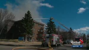 Apartment building heavily damaged by fire in northwest Edmonton (02:05)