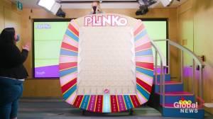 Minden woman wins $500,000 on OLG Plinko game (01:50)