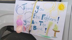 West Kelowna residents hold parade for firefighters (02:12)