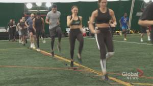Athletes, fitness influencers workout in City Shred event