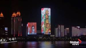 Coronavirus outbreak: Wuhan celebrates end of lockdown with light show