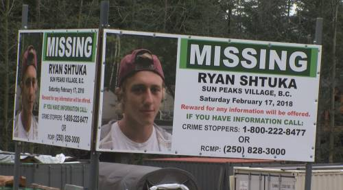 Search for Ryan Shtuka continues at Sun Peaks