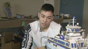 Youth with autism building BC Ferries replicas at home
