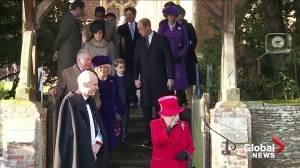 Royal Family leaves Christmas church service