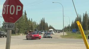 Frustration mounts in Alberta hamlet as drivers wait at Bragg Creek's 4-way stop