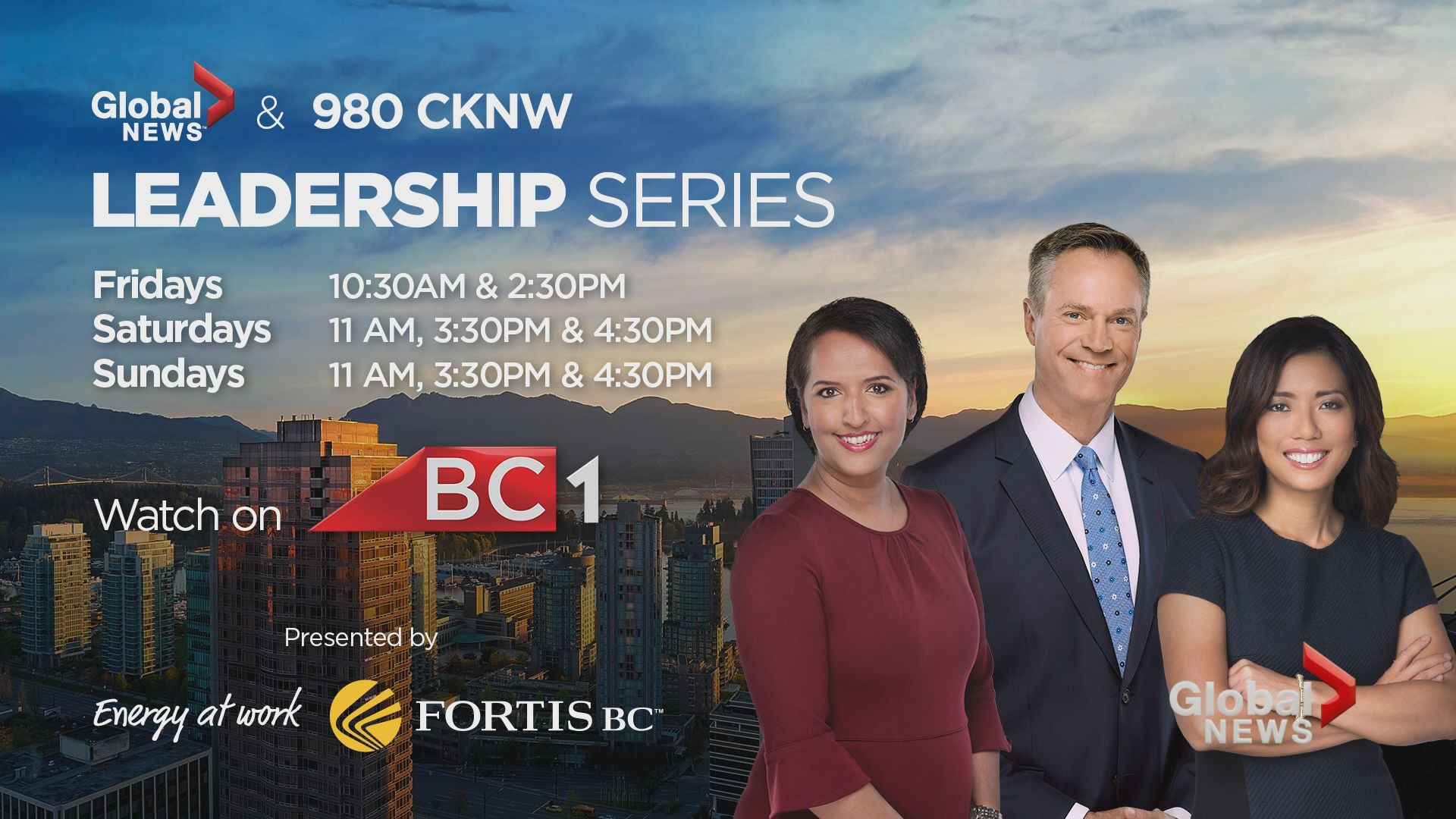 Global News & 980 Leadership series returns for 2019