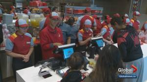 Massive turnout for opening of first Jollibee restaurant in Calgary