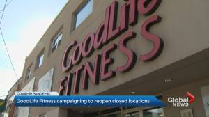 GoodLife Fitness asks members to urge Ontario government to reopen gyms (02:11)