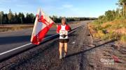 Play video: Montreal marathoner pays tribute to Terry Fox