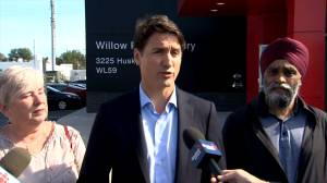 Hurricane Dorian: Trudeau thanks first responders during trip to Halifax