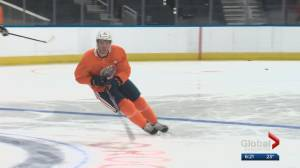 Connor McDavid hits the ice at Rogers Place on Saturday