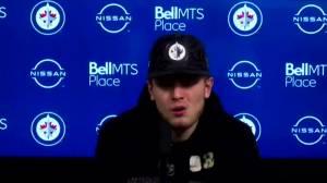 RAW: Winnipeg Jets Kristian Vesalainen Interview Feb. 13 (02:24)