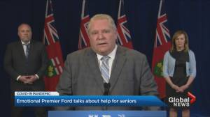 Doug Ford vows to help seniors as military prepares to move into Ontario long-term care homes