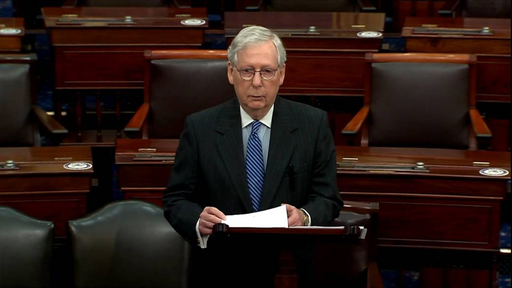 Click to play video 'U.S. election: Senate leader McConnell acknowledges Biden-Harris election victory'