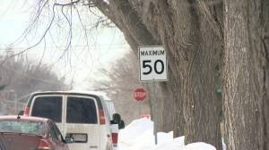 City of Saskatoon reviewing residential speed limits, looking for public feedback (01:09)