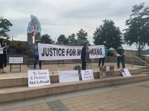 Mona Wang rally held in at Kelowna City Hall
