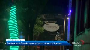 Parts of Quebec getting ready for Tropical Storm Isaias
