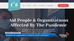 Student-run organization connects volunteer youth to organizations affected by COVID-19 (02:49)
