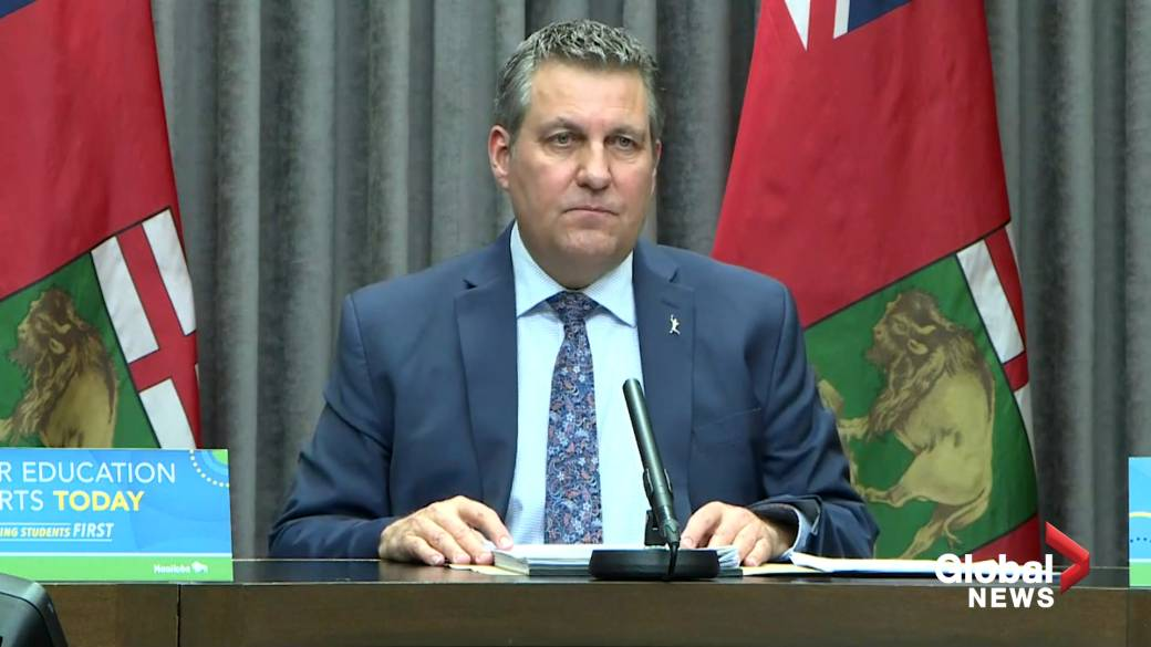Click to play video: 'Manitoba's education minister says Bill 64 will allow system to run 'efficiently,' re-direct up to $40M towards classrooms'