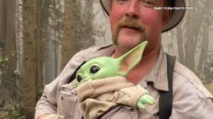 West Coast wildfires: 'Baby Yoda' helps lift spirits of firefighters