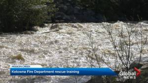 Swift water training for Kelowna Fire Department amid snowpack melt