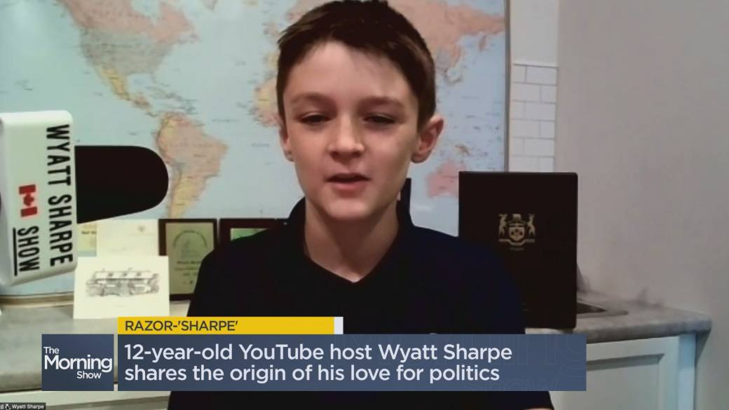Click to play video: '12-year-old political pundit's predictions for the federal election'