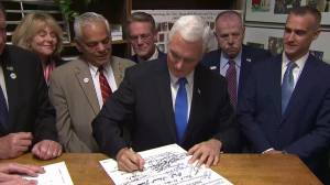 Pence files paperwork for crucial New Hampshire presidential primary