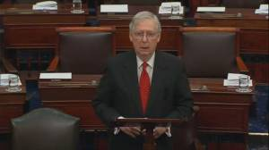 McConnell says majority of senators in favour of impeachment rules, lays out trial process