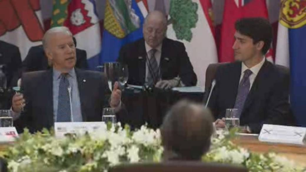 Click to play video 'Biden's first call to foreign leader is with Trudeau'