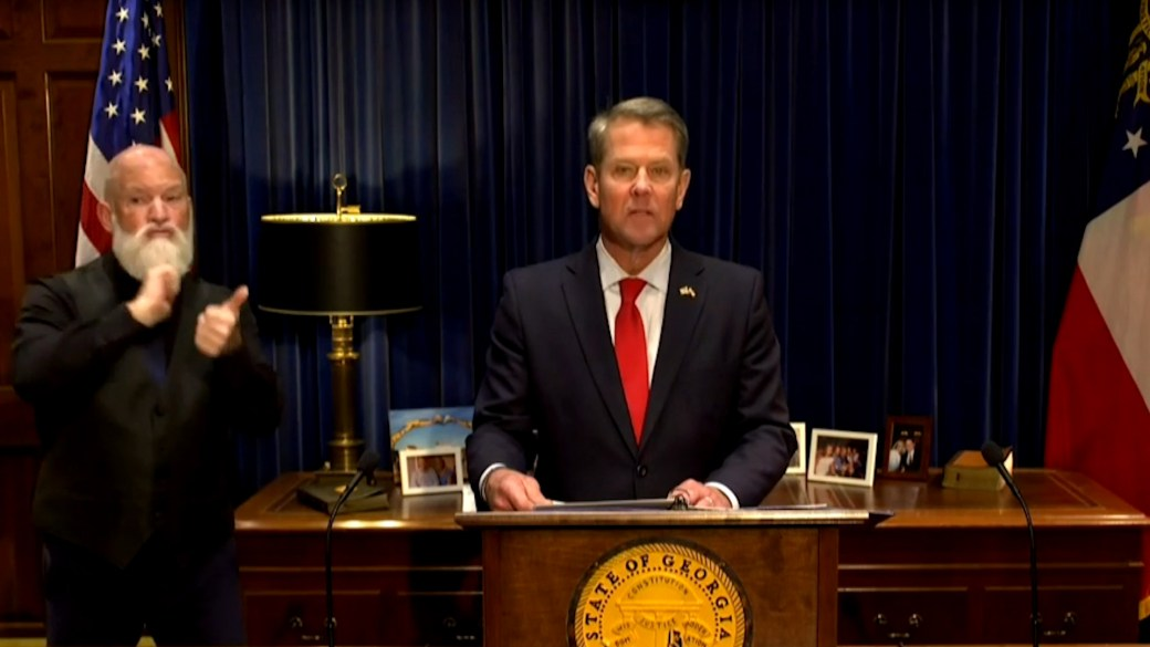 Click to play video 'U.S. election: Georgia governor says state law requires governor's office to formalize certification of election'