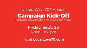 United Way of BC Southern Interior launches 70th annual fundraising campaign