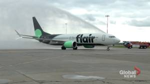 Flair Airlines unveils its first Boeing 737 MAX (01:43)