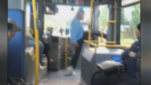 Video shows abuse towards bus driver as strike looms
