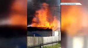 Two firefighters injured in Borebank blaze in Winnipeg