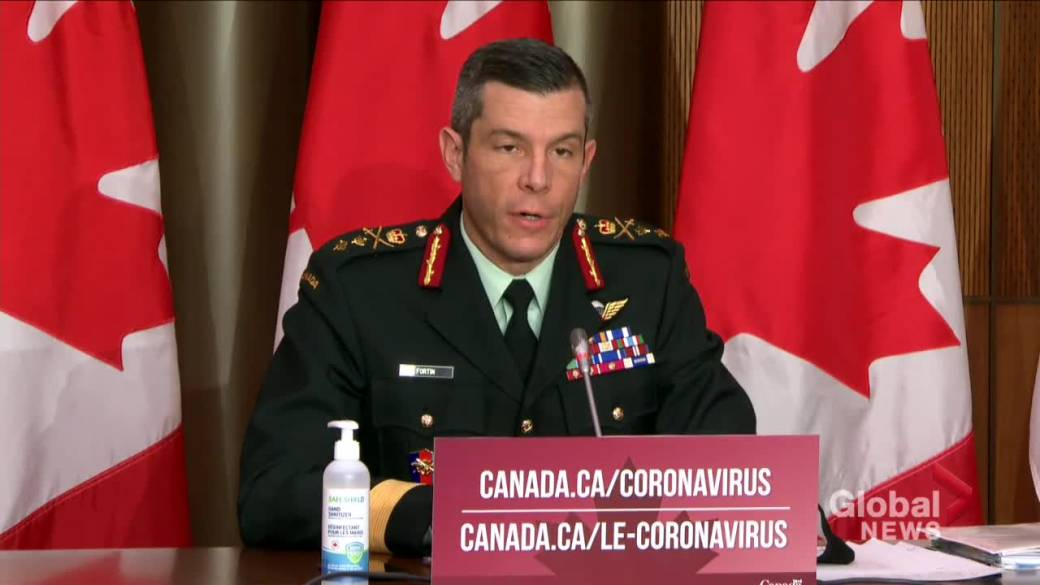 Click to play video 'Coronavirus: Canadian military official says they are focused on security of vaccine supply chain'